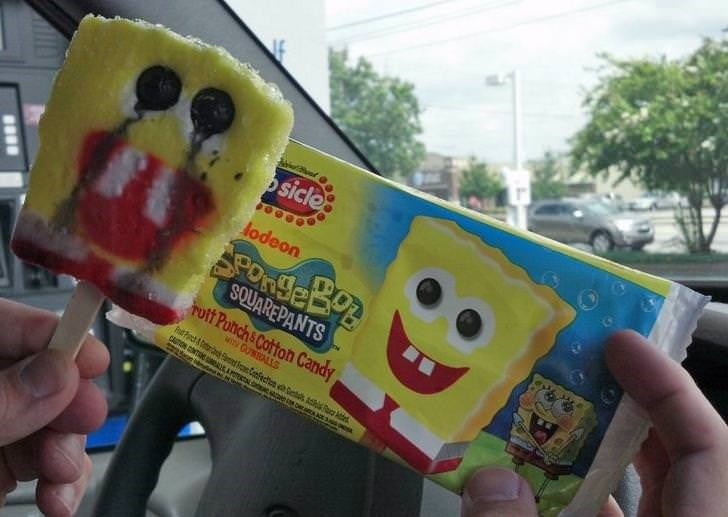 Junk food - sicle lodeon SQUAREPANTS Putt Puhch& Cotton Candy MITY GUALS Pch& aofecn ets sa CASTON CONT EA e on ndd