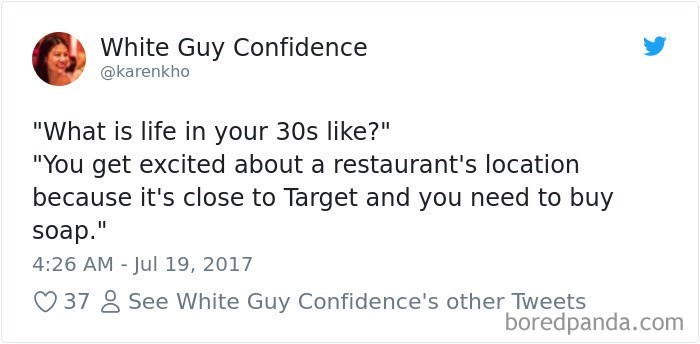 tweet about life as an adult being all about going to Target