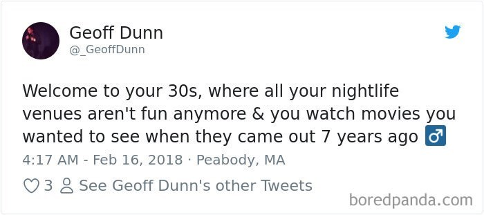 tweet about life as an adult watching moves years after they came out
