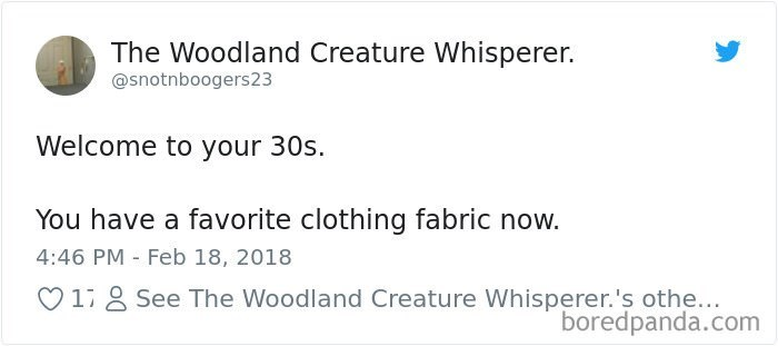 best tweet about having favorite fabrics as an adult
