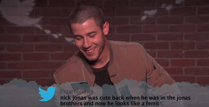 Facial expression - @starhollows nick jonas was cute back when he was in the jonas brothers and now he looks like a ferrit