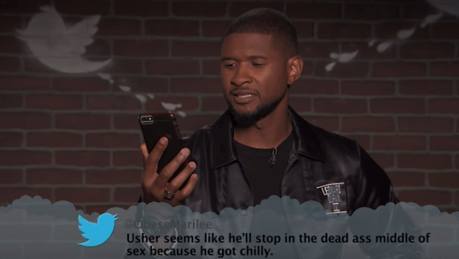 Photograph - @ObeseMarilee Usher seems like he'll stop in the dead ass middle of sex because he got chilly.