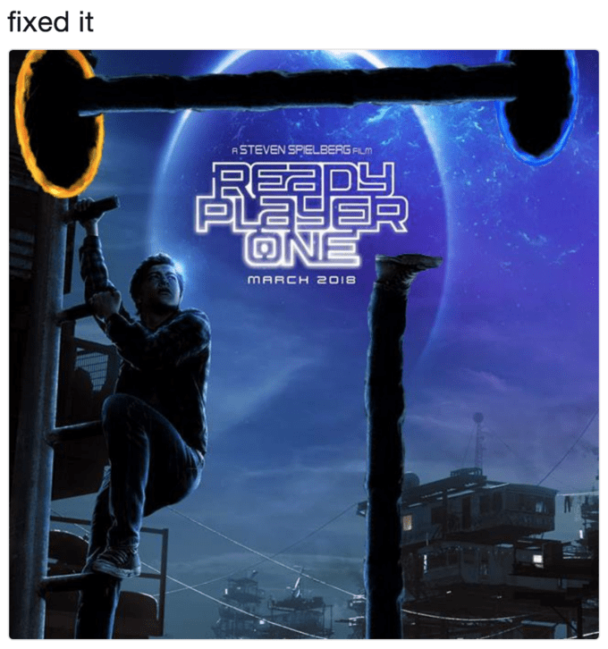 Poster - fixed it ASTEVEN SPIELBERG FLM READ PLAYER ONE MARCH 2018