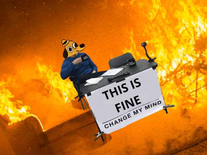 steven crowders sign - Heat - THIS IS FINE CHANGE MY MIND
