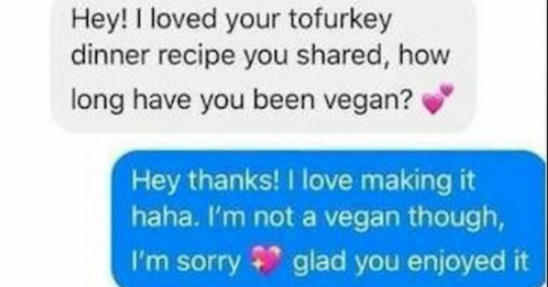 Vegan accuses a non-vegan of cultural appropriation for eating tofu in addition to meat.