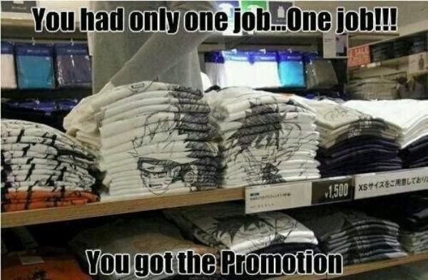 Inventory - You had only one jobone job!! 1.500 xs RBLTE You gotthe Promotion