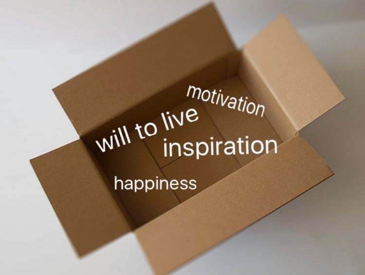 Box - motivation will to live inspiration happiness