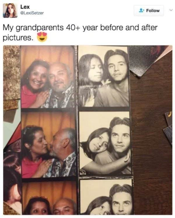 Face - Lex Follow @LexiSetzer My grandparents 40+ year before and after pictures