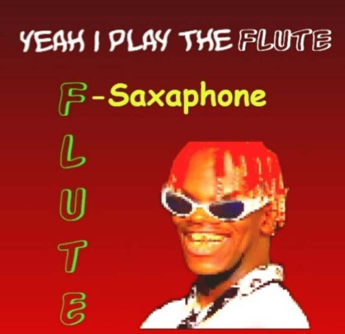 Text - YEAH I PLAY THE FLUTE F-Saxaphone