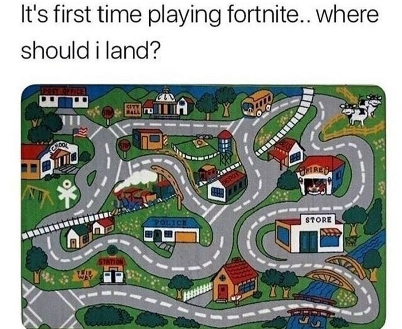 Funny meme about fortnight.