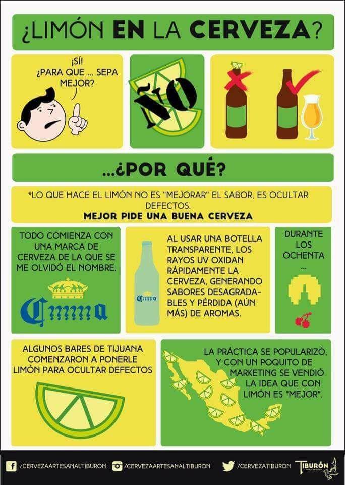 explicacion cientifica del limon en la cerveza