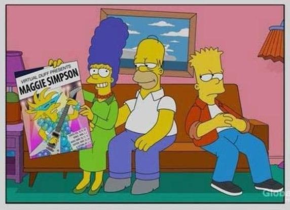 Cartoon - VRTUAL DUFF PRESENTS MAGGIE SIMPSON Glot