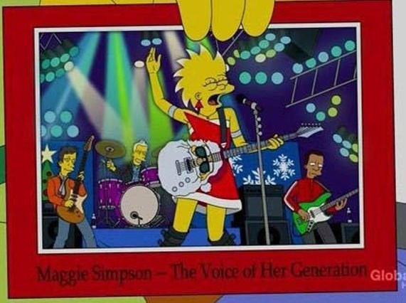 Cartoon - Maggie Simpson-The Voice of Her Generation Glob
