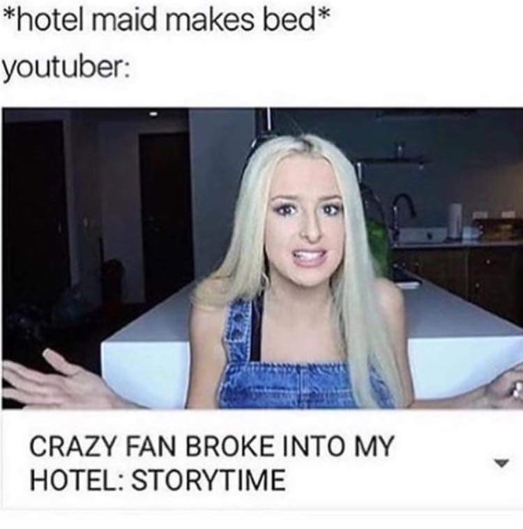 Hair - *hotel maid makes bed* youtuber: rert CRAZY FAN BROKE INTO MY HOTEL: STORYTIME