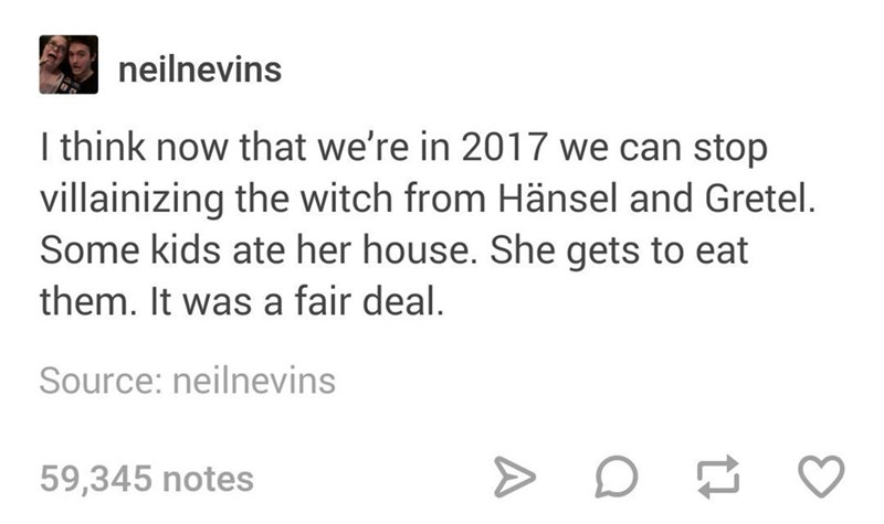 tumblr rant about the with from hansel and gretel