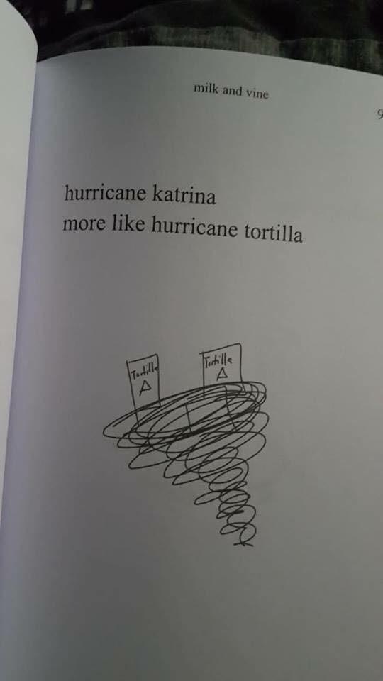 Text - milk and vine hurricane katrina more like hurricane tortilla Tarblls A