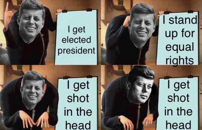 gru meme - Facial expression - Tstand up for equal rights I get elected president get shot I get shot in the qhead in the head