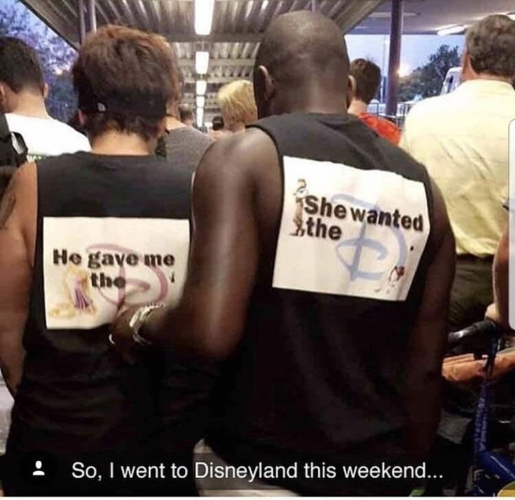 Arm - Shewanted Sthe He gave me the So, I went to Disneyland this weekend... A