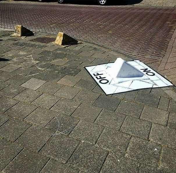 funny vandalism - Road surface - NO