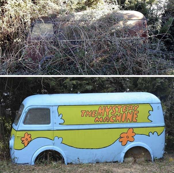 funny vandalism - Motor vehicle - THEMYSTERY MACHONE