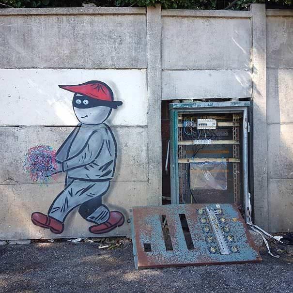 funny vandalism - Street art