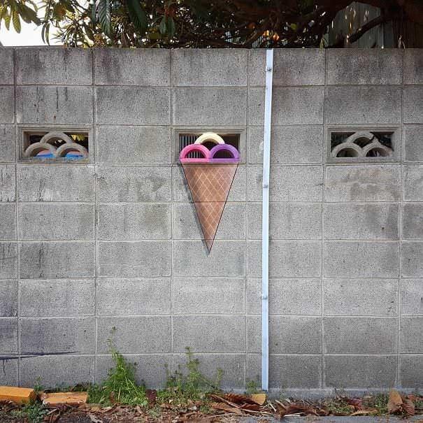 funny vandalism - Wall