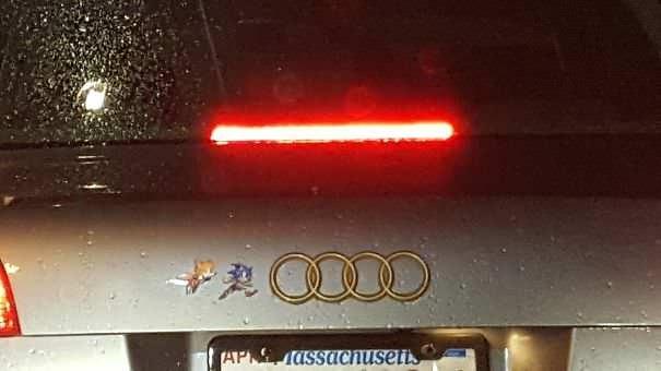 funny vandalism - Automotive lighting - A OOOD AP assachuseti