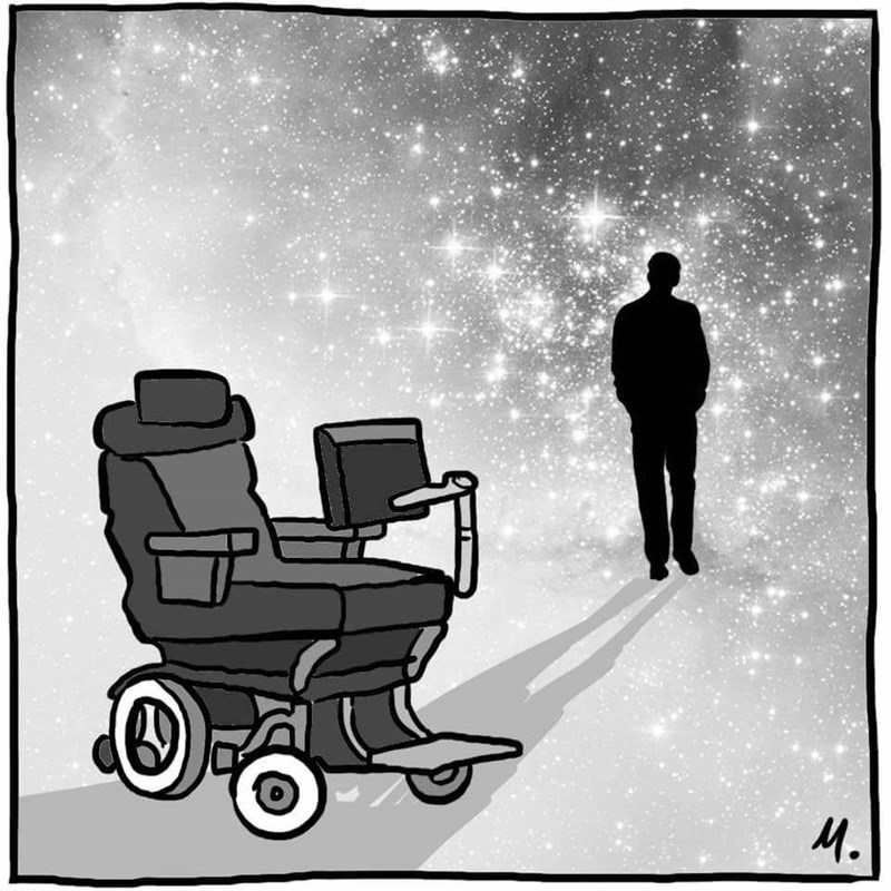 Touching web comic for stephen hawking.