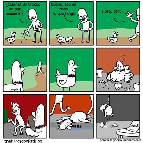 le das de comer a un pato y piensas que le hiciste bien