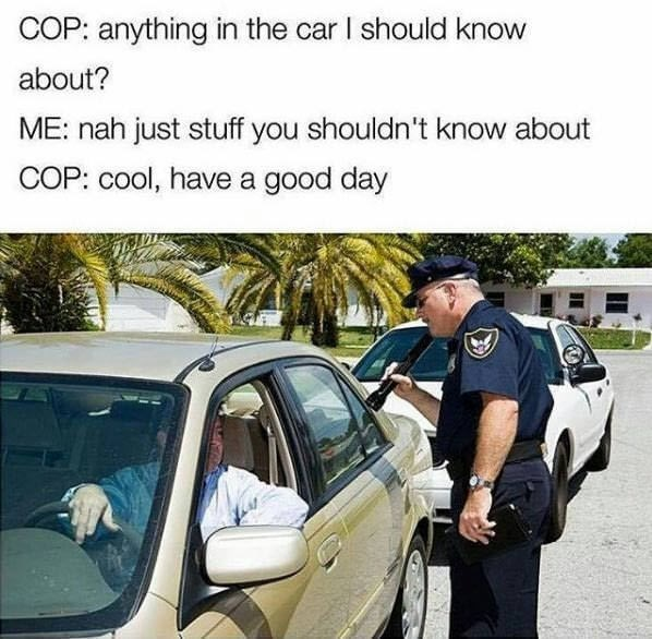 Funny meme about cops.