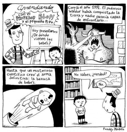 de donde salen los bebes FreddyMerkensComics