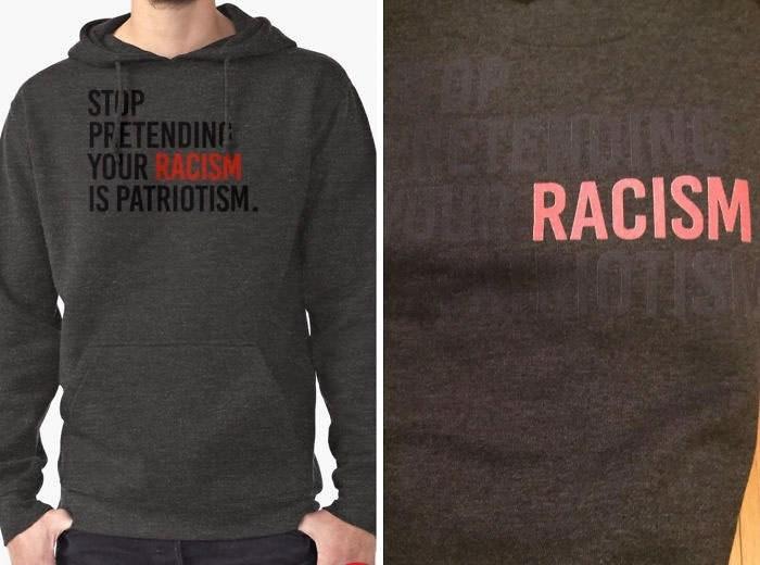 Hoodie - STOP PRETENDIN YOUR RACISM IS PATRIOTISM. TENDIN OURACISM