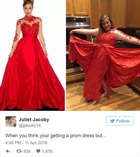Gown - Juliet Jacoby Follow @ijacoby14 When you think your getting a prom dress but... 4:46 PM 11 Apr 2016 939 1,876