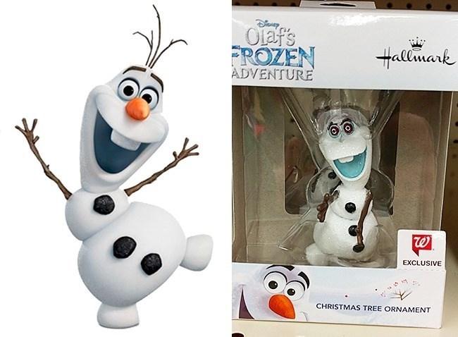 Snowman - y Olaf's Hallmark FROZEN ADVENTURE EXCLUSIVE CHRISTMAS TREE ORNAMENT
