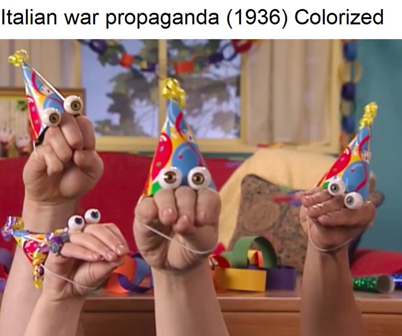 Play - Italian war propaganda (1936) Colorized