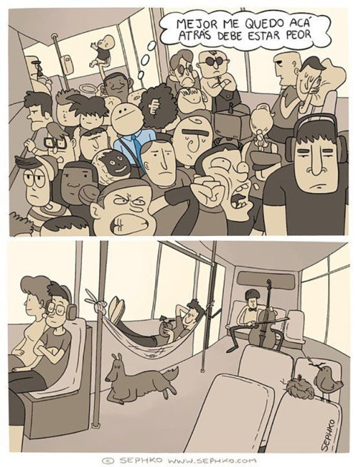 cuando no visitas la parte de atras de un bus