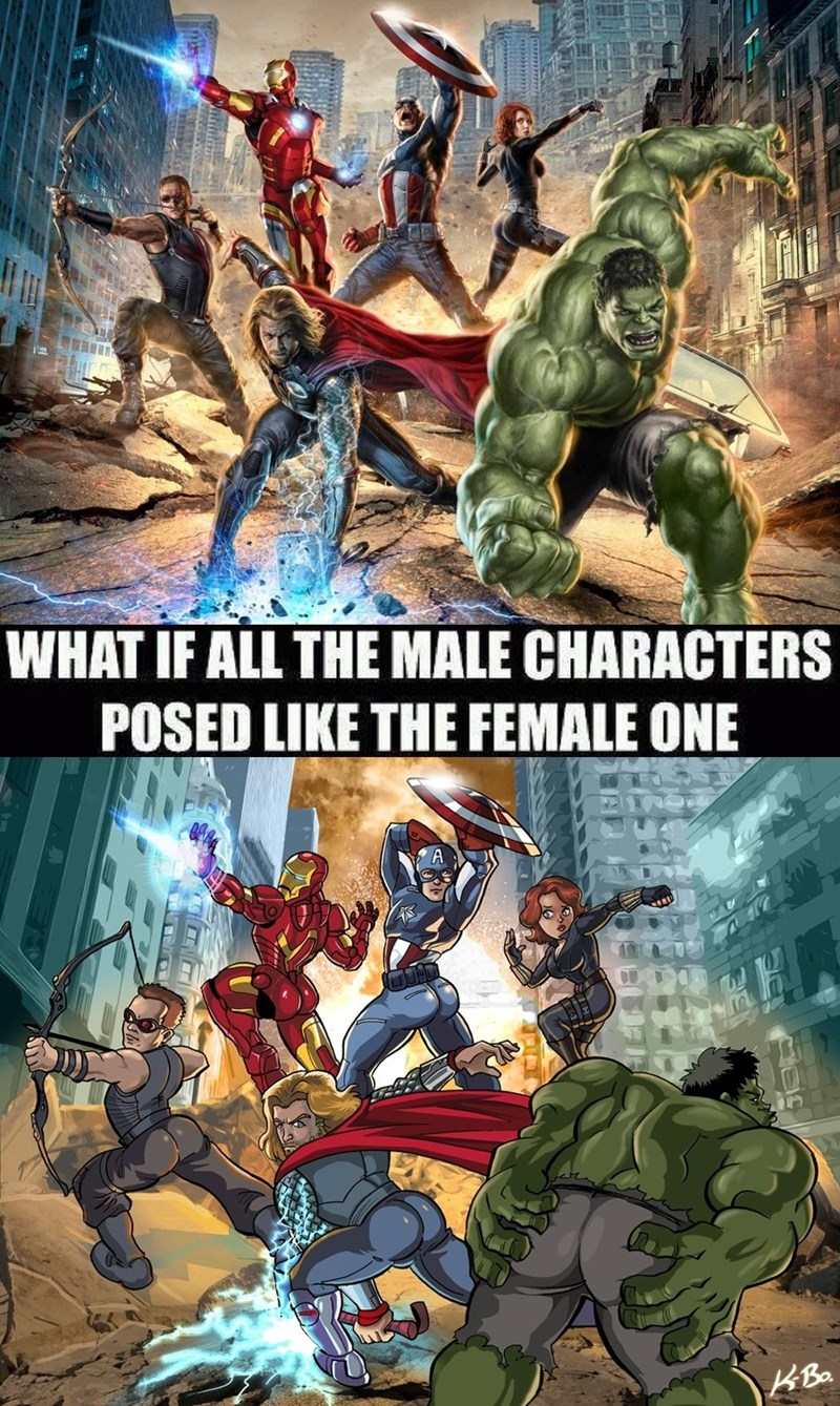 what if all male characters posed like the female