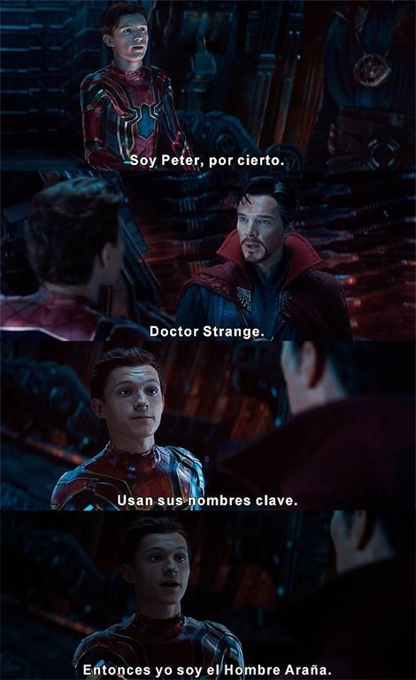 chiste de spiderman en la nueva pelicula de los avengers