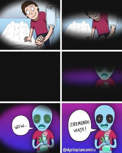 cuando uno se muere y se da cuenta que es el sueno de un marciano