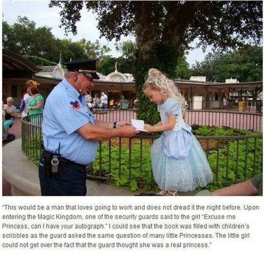 "Photograph - This would be a man that loves going to work and does not dread it the night before. Upon entering the Magic Kingdom, one of the security guards said to the girl Excuse me Princess, can I have your autograph."" I could see that the book was filled with children's scribbles as the guard asked the same question of many little Princesses. The little girl could not get over the fact that the guard thought she was a real princess."