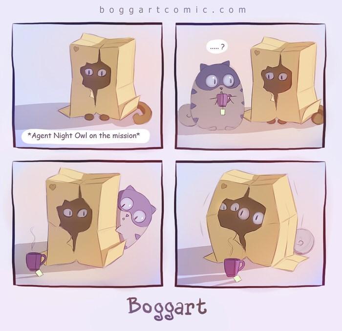 Illustration - boggartcomic.com ? Agent Night Owl on the mission* Boggart
