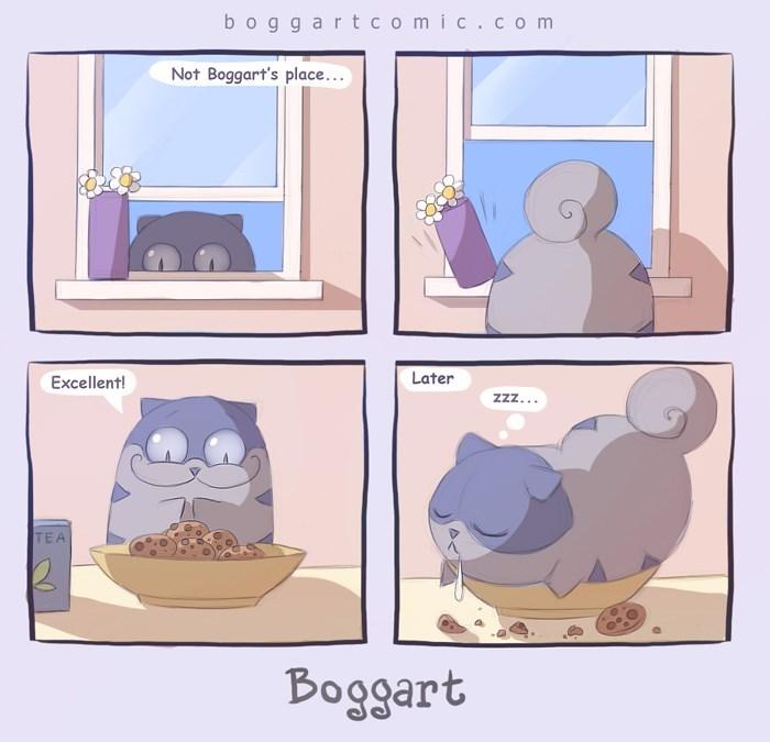 Cartoon - boggart comic.c om Not Boggart's place... Later Excellent! zzz... TEA Boggart