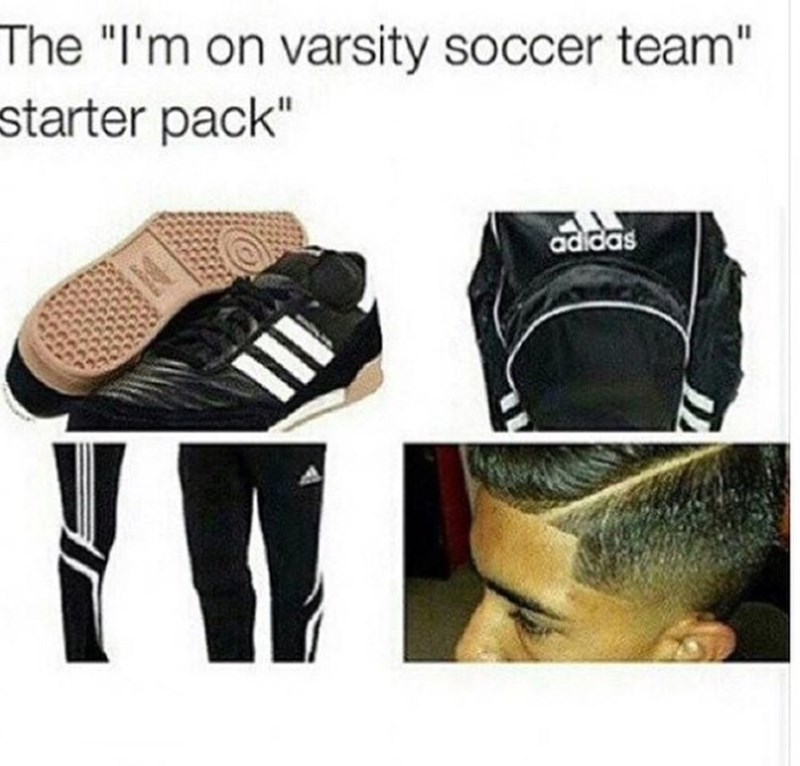 "Personal protective equipment - The ""I'm on varsity soccer team"" starter pack"" adidas"