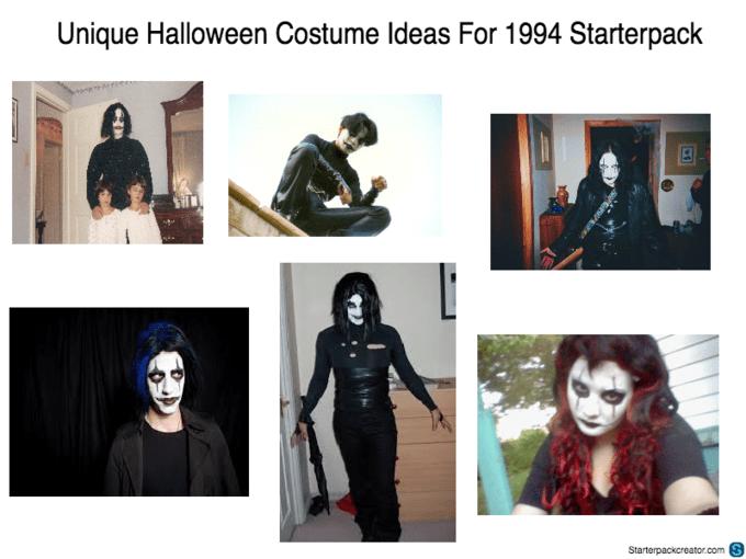 starter pack meme for Halloween costumes in 1994