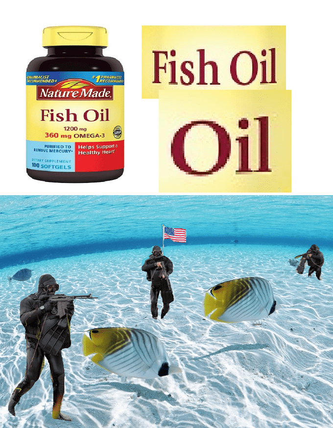 america invading for oil - Product - Fish Oil APMACIST ecOMMENDED #PHARMACS RECOMMA Nature Made Fish Oil Oil 1200 mg 360 mg OMEGA-3 Helps Support PURIFIED TO REMOVE MERCURY Healthy Heart 3tTARY SUPPLEMENT 100 SOFTGELS