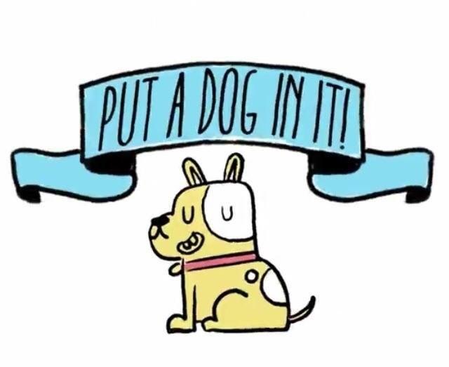 Cartoon - PUT A DOG N U
