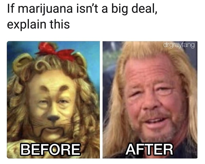 Funny meme about marijuana.