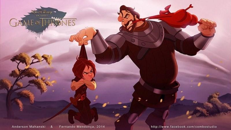 Animated cartoon - JArDeNEY TICTURES GAME OFHONES Anderson Mahanski & Fernando Mendonça, 2014 http://www.facebook.com/combostudio