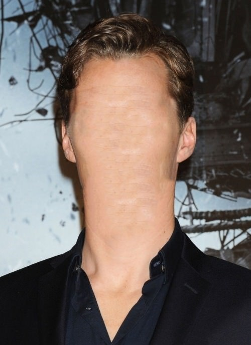 cursed image - Hair and no face on Benedict Cumberbatch