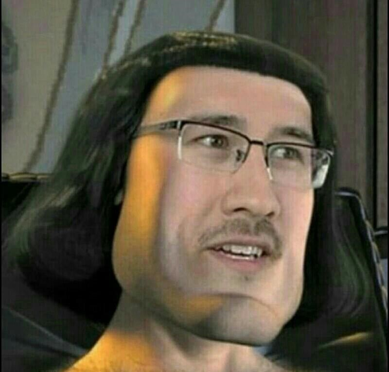 cursed image - Face of Markiplier and Lord Farquaad